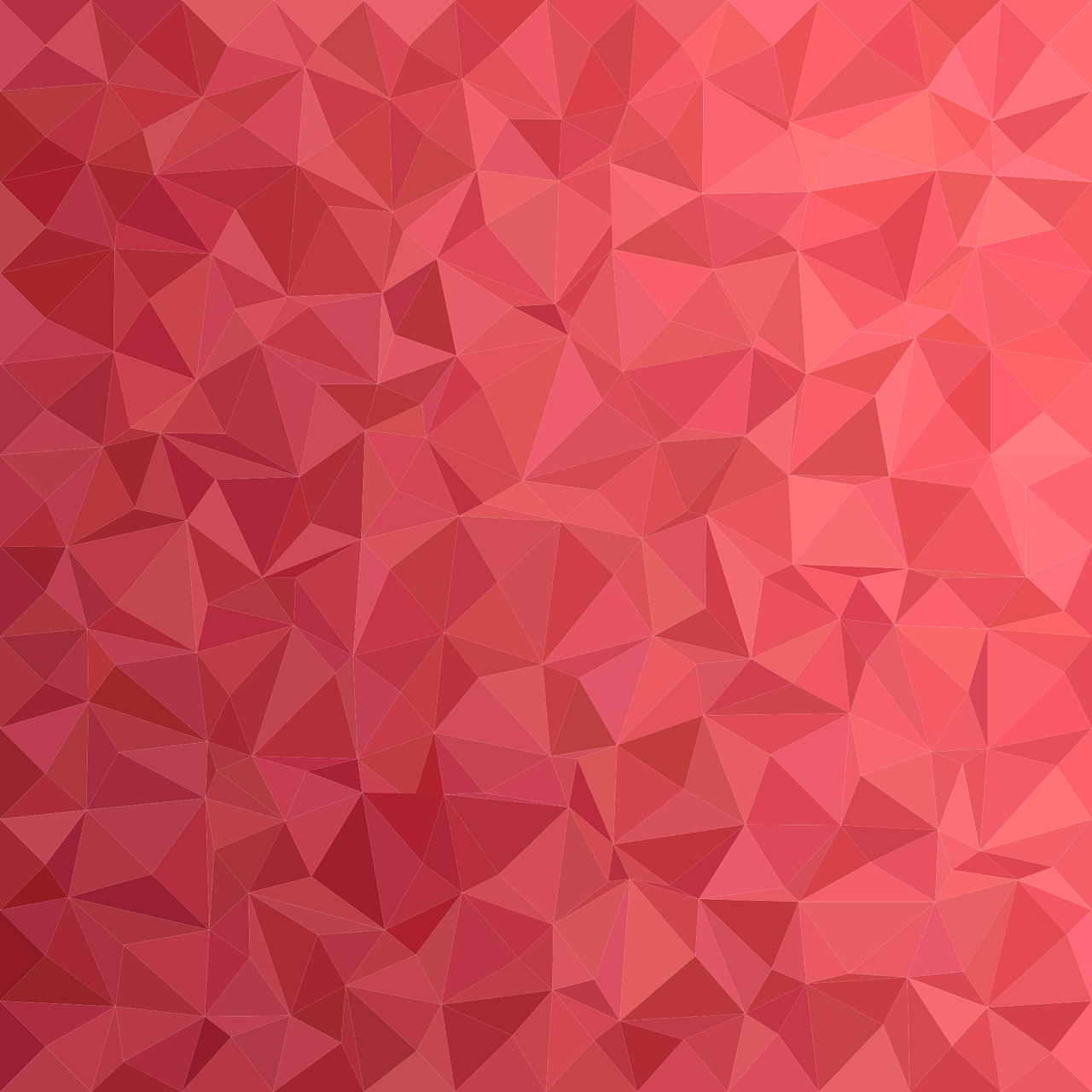 Red triangle mesh