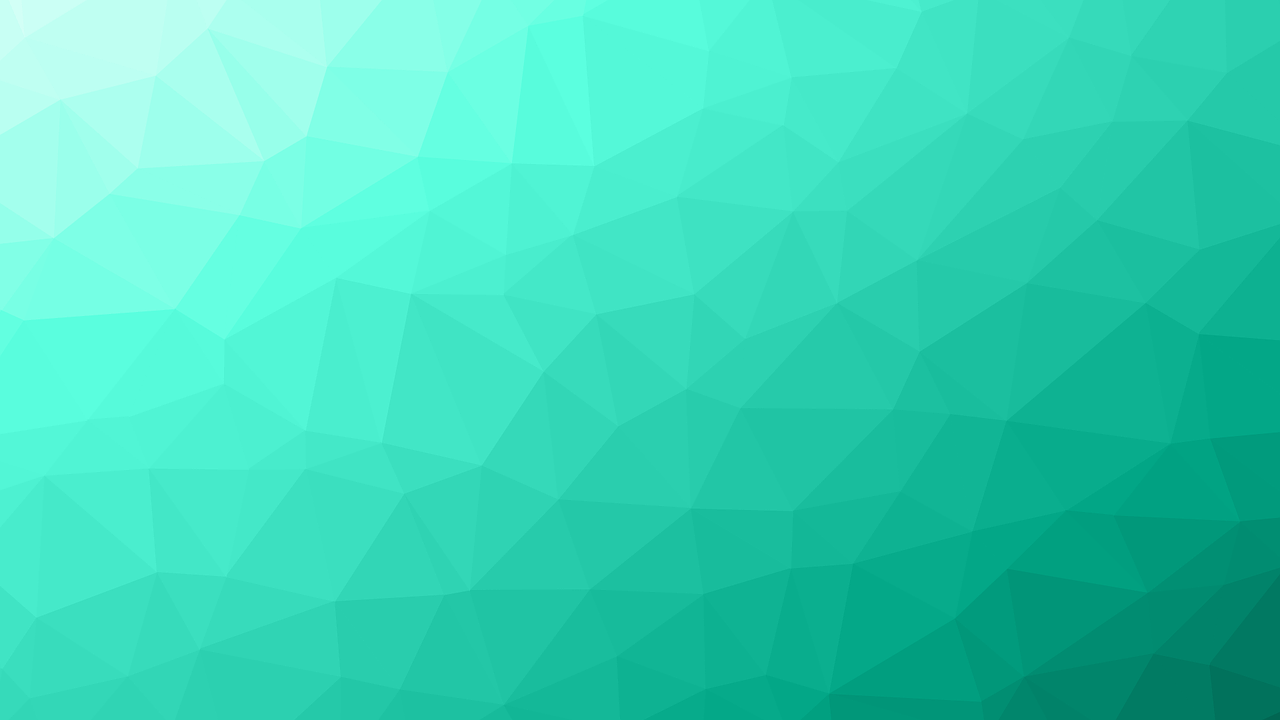 Turquoise triangle mesh