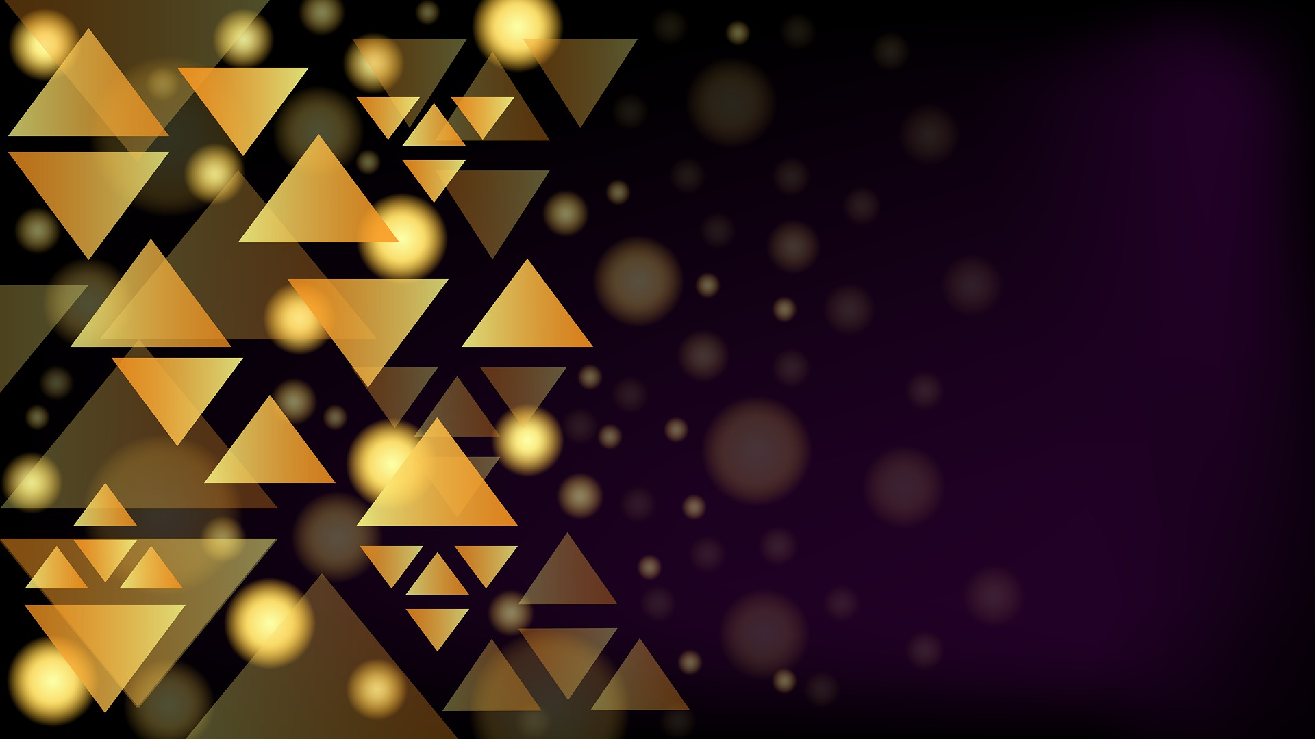 Black background with golden triangles