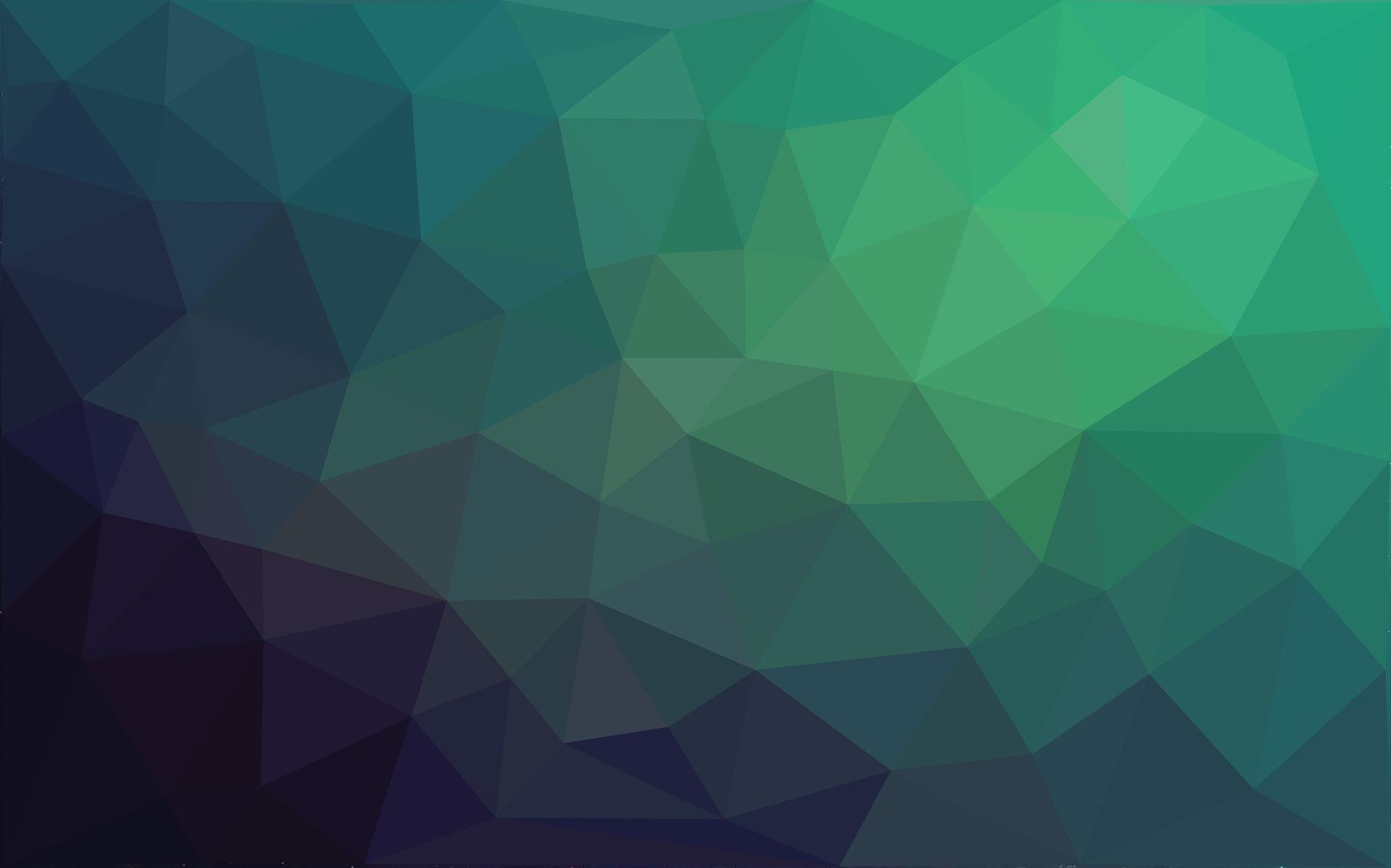 Green triangle mesh